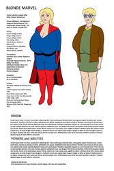Blonde Marvel - Too Much Information Sheet by darrellsan