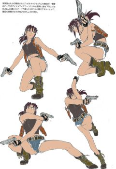 Revy rough sketch color by raining-dango-anko