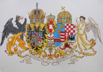Coat of arms of Austria-Hungary drawing by R7artist