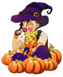 Halloween 2015 - Satoshi empty background version by YokoYokoNashi