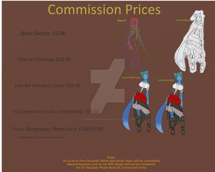 My Commission Prices by Vendrixdragon