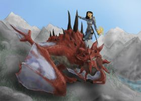 Skyrim Mulan (with Mushu) by incetcan
