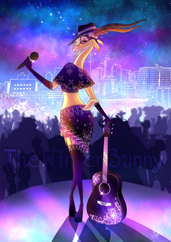 La Guitarrista by TheWinterBunny
