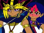 DuplicateShipping: Atem and Tef (Coloured) by GalacticTachyon