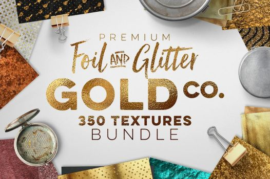 350 Gold and Metallic Textures by GraphicAssets