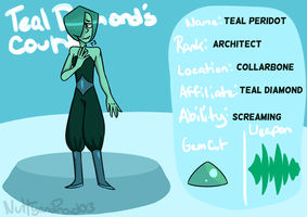 Teal Diamond's Court Application - Teal Peridot by TheTwistedTail