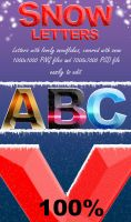 Snow alphabet and numbers by sarthony