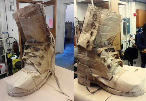 Cardboard Boot by Kuenai