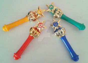 Sailor Moon Gashapon Rods by Naneia