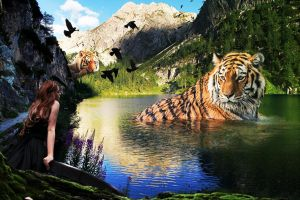 Tiger in the Lake by brownchris1981