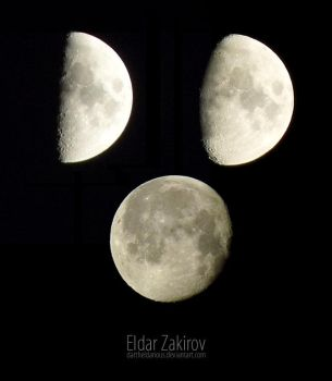 Moon phases by EldarZakirov