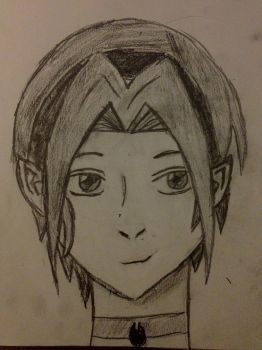 manga girl first attempt by RaukRae