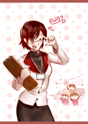 Doodle : Ruby Rose the homeroom teacher by dishwasher1910