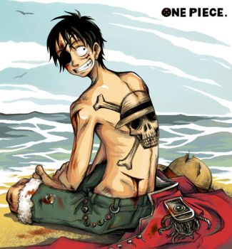One Piece: Pirate king by sweetlittlekitty