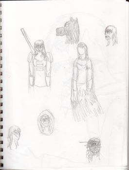 Doodles + Female Practice by jakeisepic16