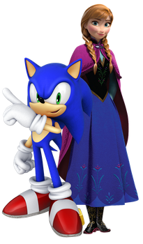 Sonic and Anna in CZE X FCE Adventures Render by SuperRatchetLimited