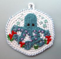 Crochet Octopus Pot Holder by meekssandygirl