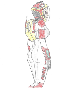 Futuristic Spacesuit by improbableSpace