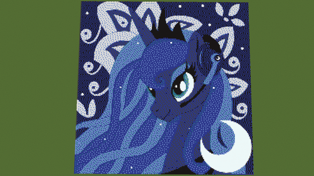 Gamer Luna Pixelart, by RedIceArrow