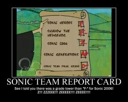 Sonic Team Report Card by shadowbane2009