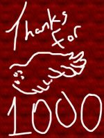 Thanks for 1000 by WolfofFallenShadows