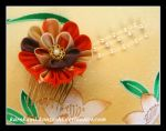 Spanish Chrysanthemum Comb - SOLD by Kurokami-Kanzashi