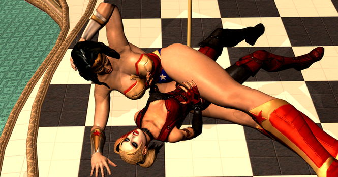 Harley Quinn Subdued 3/4 by 3DCatfights