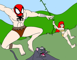 The Savage Spiderman By Streetgals9000 colored by KallyToonsStudios