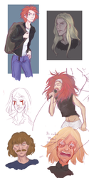 Metalocalypse Sketchdump by Rosyforest