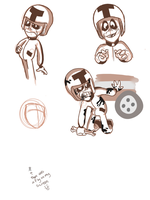 Unfinished Turbo Sketches by FillyBlue