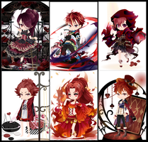 Free wta Adoptables red batch  {CLOSED} by faeryhond