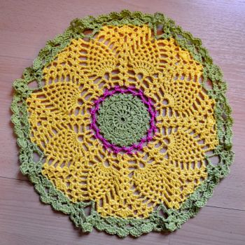 bright doily by eveningemma
