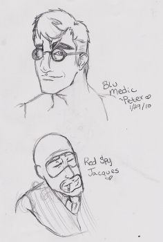 TF2- Peter and Jacques by Worldofwarcraftvamp