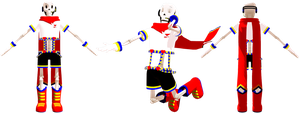 MMD Vocaloid Papyrus (DL) by KittyNekkyo