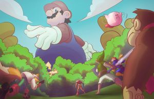 All vs Giant Mario by Forkznspoonz