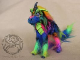 Pride Dragon Unicorn - Handmade Art doll by SonsationalCreations