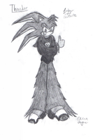 Thunder the Hedgehog Uncolored by Candy-Ice
