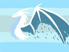 Winter Dragon by NeonVioletOwl