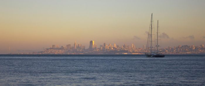 The Bay at sunset by cd2