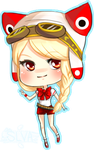 comm: steampunk chibi by slvadrgn