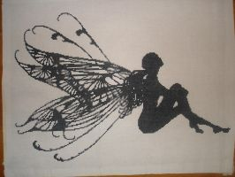 Silhouette Fairy by stardancer1