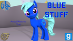 Blue Stuff (Crystal Pony OC Model Download) by GameAct3