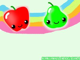 Fruit Rainbow Wallpaper by mkirby712
