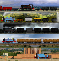 Thomas Through Time by Nictrain123