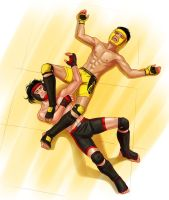 Quintyn and Sakata post sparring session by HappyChris