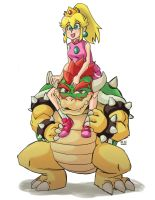 Bowser and Peach 2 by kenvinArt