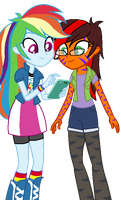 [COMMISSION] Hangin Out With Dashie by MLPRocker123