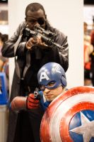 Nick Fury and Captain America by EriTesPhoto