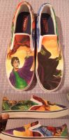 Harry Potter Custom Shoes by madeleinedemontreal