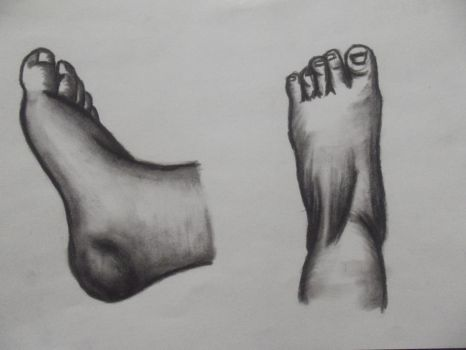 foot study 1 by AmbivalentHeart